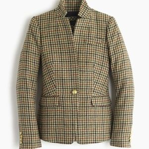 J Crew Regent Houndstooth Plaid Blazer Wool 6